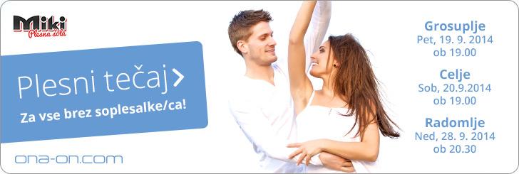 Klikni za več info! Plesni tečaj za vse brez soplesalke/ca!