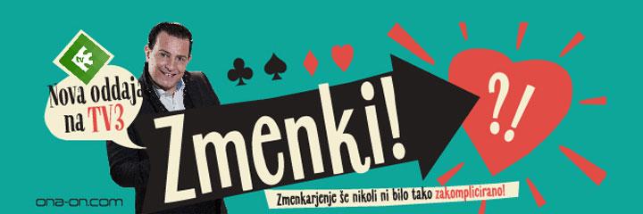Klikni za več info! ZMENKI - Nova zabavna oddaja na TV3 z ona-on.com